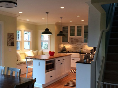 Kitchen renovation in a turn of the century bungalow
