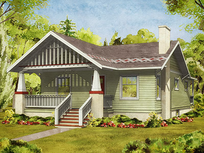 Craftsman cottage whole house makeover