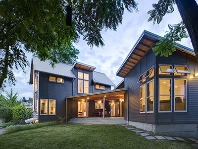 Modern urban farmhouse near the Alaska Junction in West Seattle, Washington